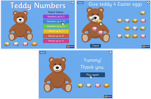 teddy numbers game