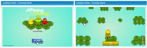 jumping chicks game