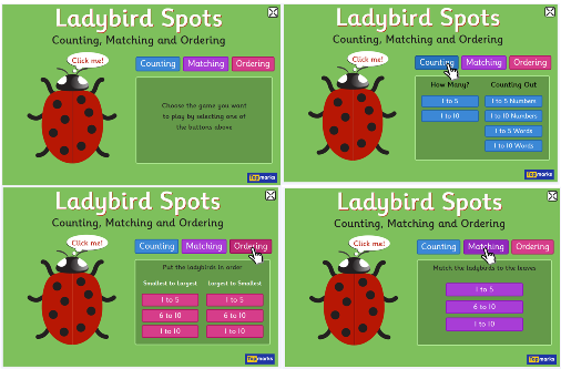 ladybirds spots page